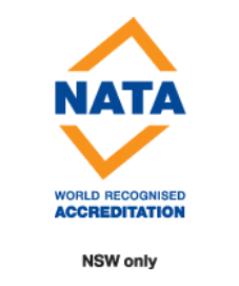 NATA world recognised accreditation